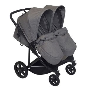 Basson Baby Duo Twin sittvagn grå